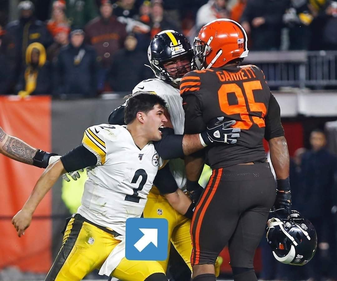 Mason Rudolph Actually Punched And Kicked Myles Garrett In The Nuts Before Being Hit Upset The Head With His Own Helmet Pro Sports Extra